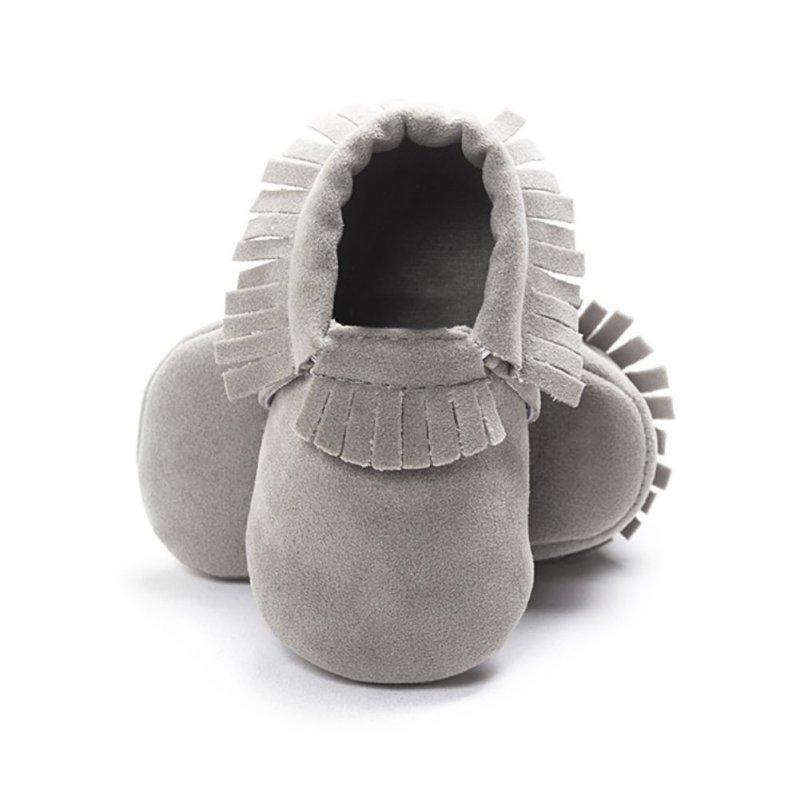 Newborn Boy Girl Suede Tassel Shoes Toddler Soft Sole Crib Slip-On Pre-walker Infant Coral Velvet Moccasins High Quality