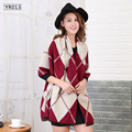 Luxury Winter Tartan Blanket Scarf Woman Plaid Scarves New Designer Diamond Geometric Print Cashmere Shawls Wraps