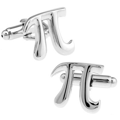 Free shipping/French shirt cuff links in Europe and the hot style mathematical symbols PI cufflinks wholesale/retail(China (Mainland))