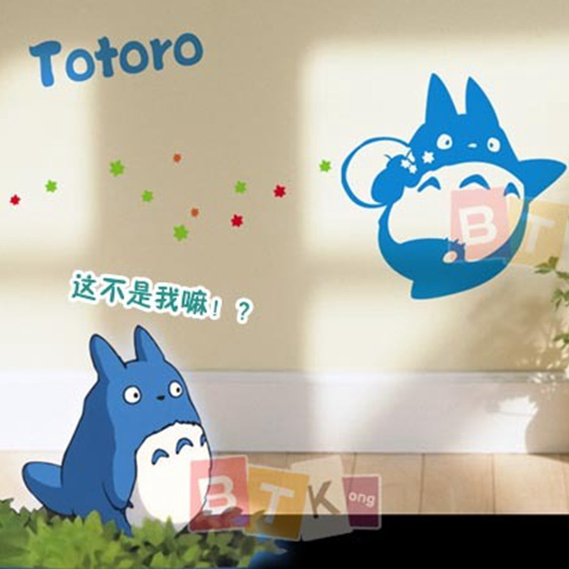 totoro cartoon wall sticker wall decors decal wall poster home decor