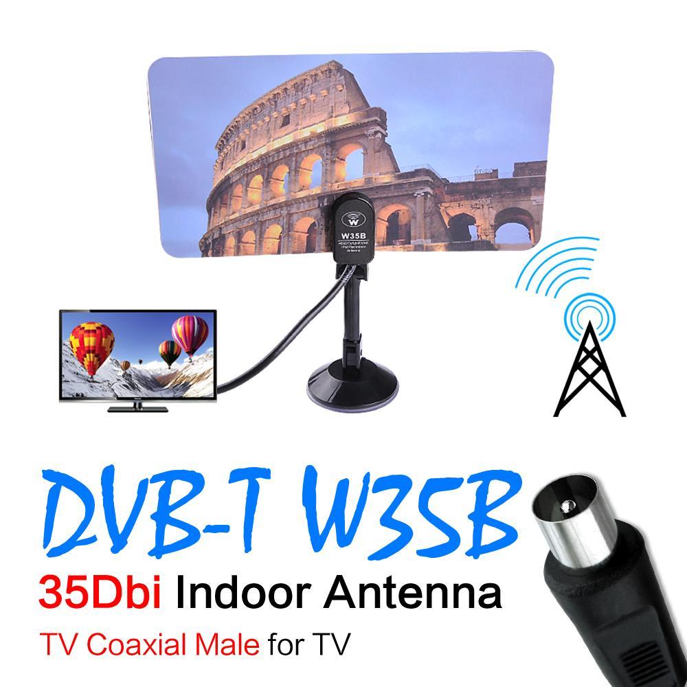 Digital Indoor Flat Design TV Antenna HDTV DTV Box HD VHF UHF High Gain HD/DTV/UHF/VHF/FM Flat Indoor Antenna 2016(China (Mainland))