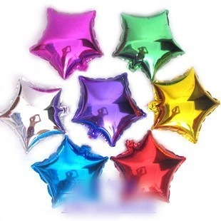 """50 PCS 10"""" inch Star shaped Helium balloons Wedding party decorations Inflatable toys gifts for children"""