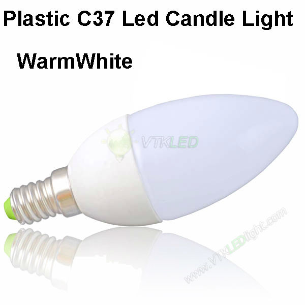 Free Ship LED Candle Light 220V, Epistar 2835 SMD LED Light Candle Warm White E14 LED Candle, 3w LED Candle Bulb Light 500pc/lot(China (Mainland))