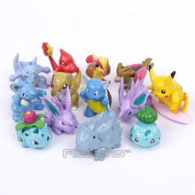 Monsters Go 13pcs/set Pikachu Bulbasaur Pidgey Charmander Nidoran PVC Figures Toys(China (Mainland))