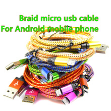 25cm/1M/2M/3M Micro USB Cable Charger Data Sync Nylon USB Cable For Android Smart Phone for tablet PC(China (Mainland))