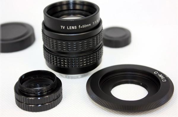 50mm f1.4 CCTV TV Lens + C mount to Micro M4/3 + Macro Ring for Olympus&amp;Panasonic GF3 GF2 GF1 G3 GH1 GH2 EP1<br><br>Aliexpress