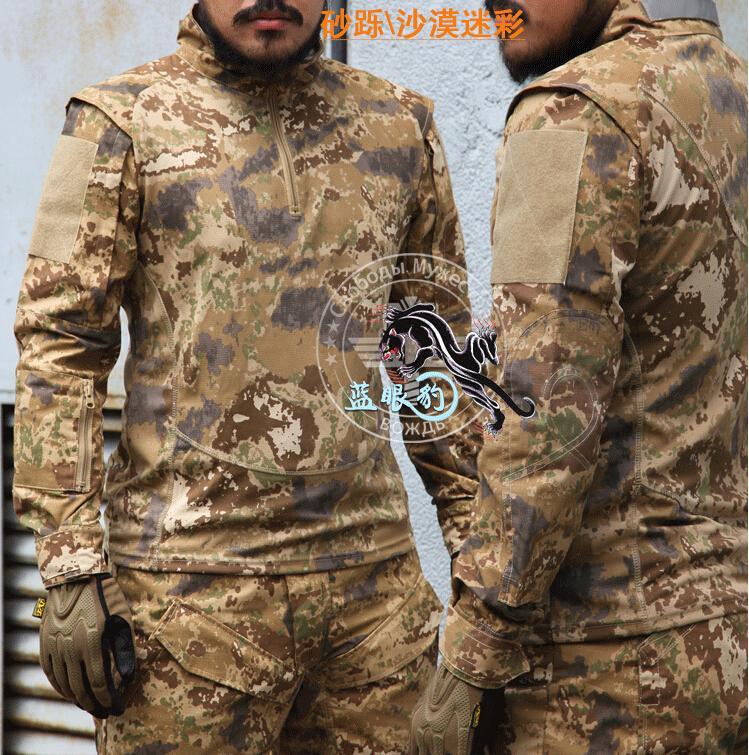 Tactical Camouflage markings Mens TDU Rapid Assault Combat Long-sleeved T-Shirt Shirts dress Hunting battle CS outdoor field - Tactical's store
