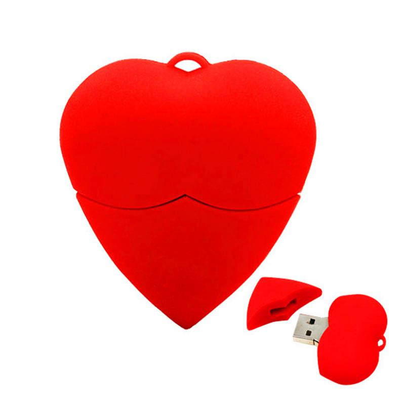 Love heart usb 2.0 flash drive 4gb 8gb 16gb 32gb 64gb pen drive memory gift(China (Mainland))