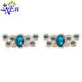 Blue crystal shoe clips for high heel decoration for clip metal new arrived fashion wedding rhinestone