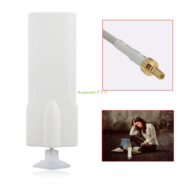 White 25dBi CRC9 Connector 4G External Antenna Signal Amplier Booster 2M Cable EL4535(China (Mainland))