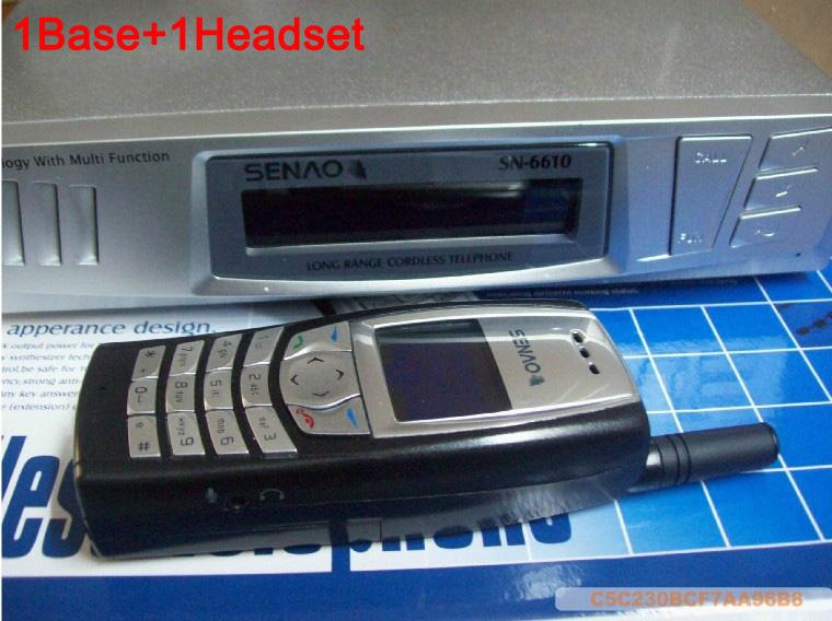 SENAO SN-6610 long distance cordless telephone 1 base support 9 extra handset Duplex Intercom(China (Mainland))