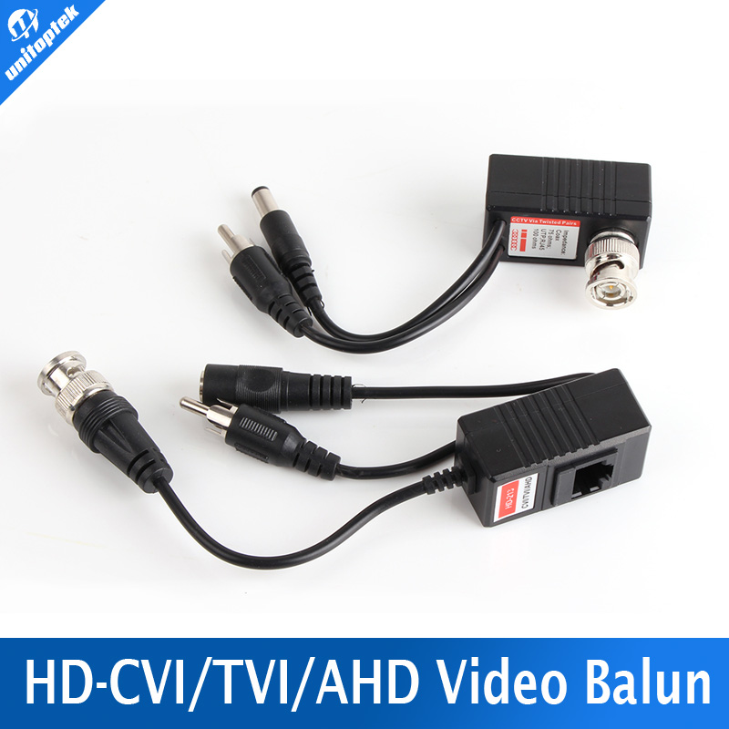 CCTV CAT5/5E/6 Cable Balun RJ45 Video Power Balun Video Audio Power For HD AHD,HDCVI HDTVI 720P CCTV Camera(China (Mainland))
