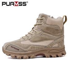 2019 novos homens botas de borracha tornozelo botas de combate militar homens tênis casuais botas de segurança trabalho ao ar livre(China)