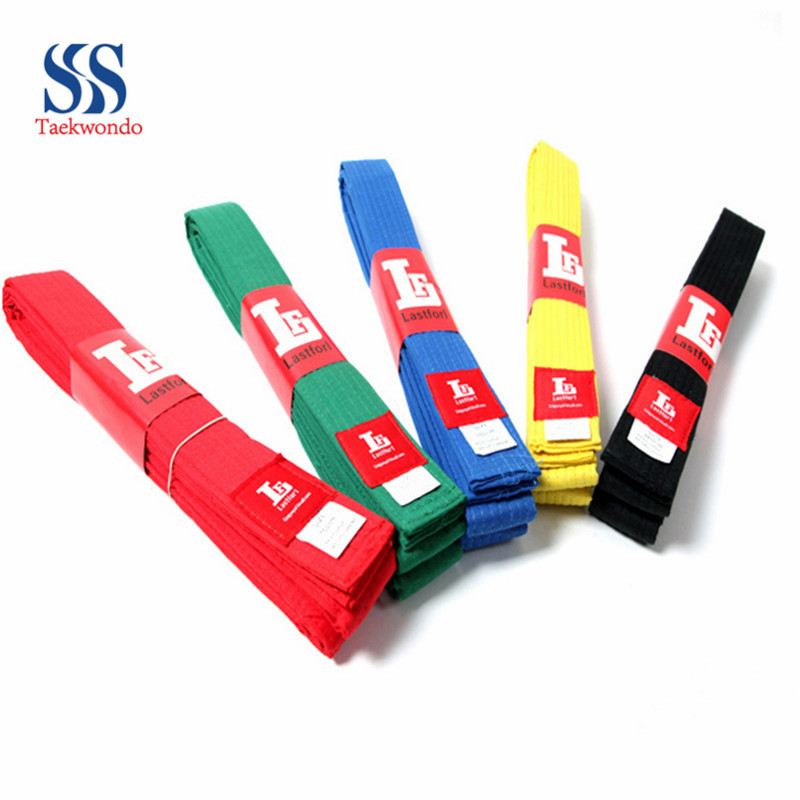 Free shipping taekwondo  karate belt Lastfor1 taekwondo belt multicolour tkd belt standard color belt 10color <br><br>Aliexpress