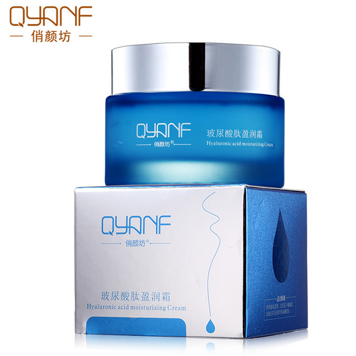 QYANF hyaluronic acid cream Moisturizing whitening shrink pores oil-control bleaching cream skin care Anti-wrinkle anti-aging