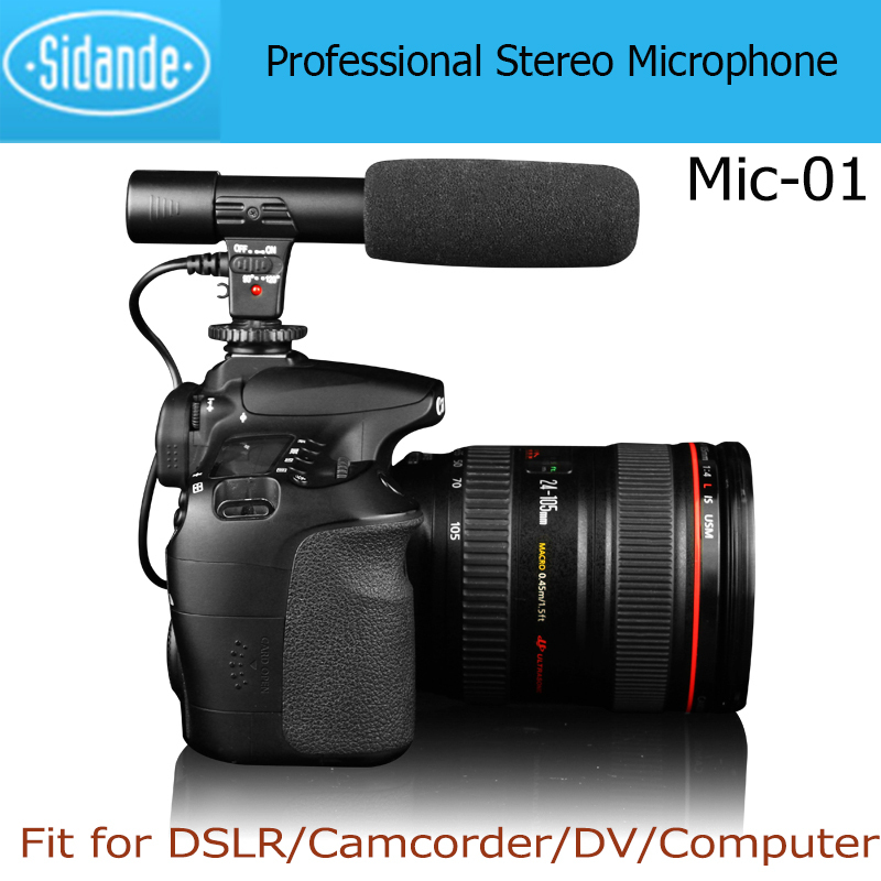 MIC-01 Digital Video Professional Studio/Stereo Shotgun Recording 3.5mm Microphone/Microfone for CANON NIKON PENTAX DSLR Camera(China (Mainland))