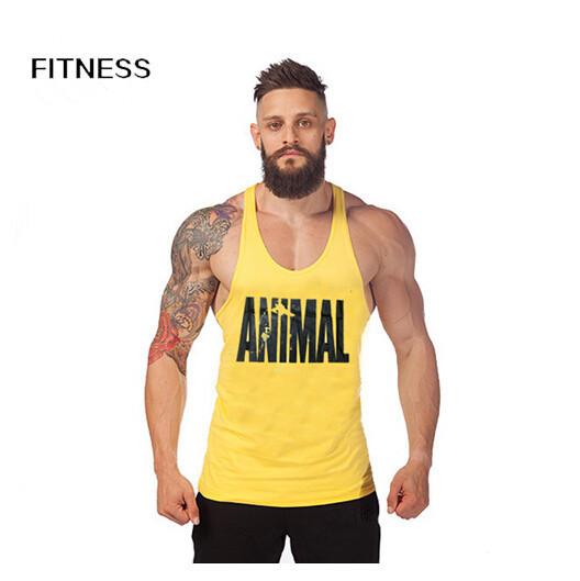 Animal Gym Tank Top Mens Bodybuilding Undershirt Fitness Men Tank Tops Sleeveless Shirts Sports Clothes Chaleco Hombre(China (Mainland))