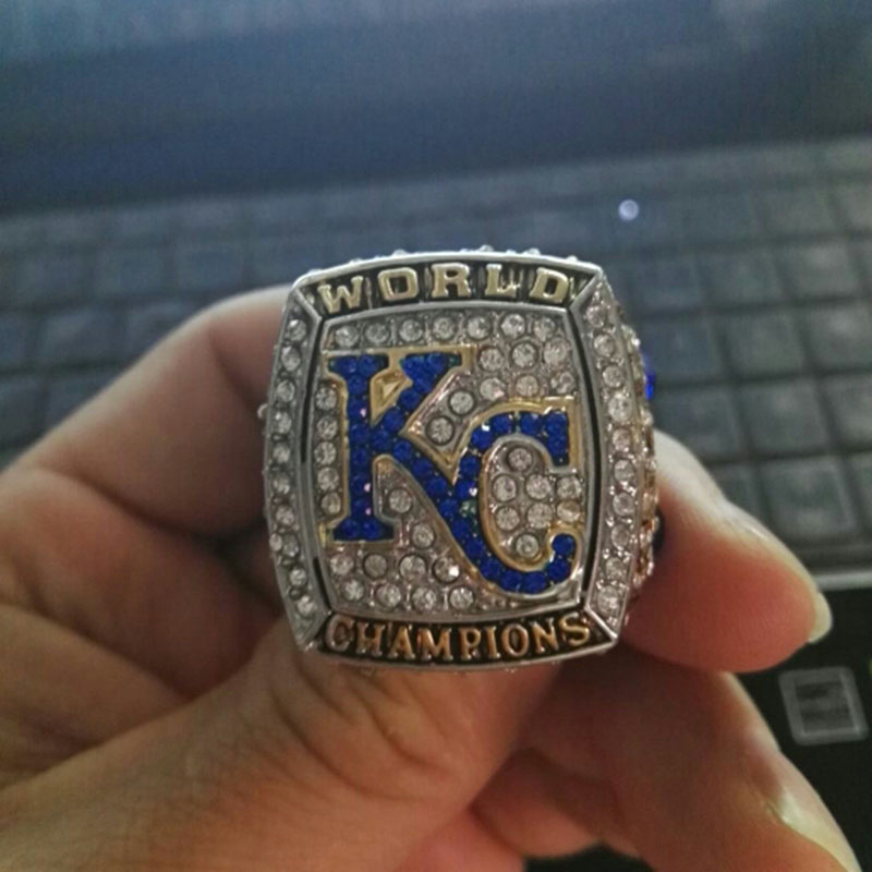 Venta al por mayor de la alta calidad 2016 Kansas City Royals campeonato de la serie mundial de béisbol anillo Sport sólido anillo de bodas(China (Mainland))
