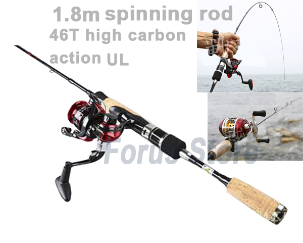 1.8M 46T carbon spinning fishing rods action UL ultra light carp fishing rod pod with cork handle  carbon ul spinning rod<br><br>Aliexpress