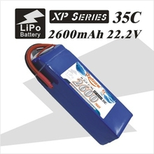 2pcs redzone rc lipo battery 35C 2600mAh 22.2V 6s 1p for electric rc helicopter fixed-wing aircraft quadcopter