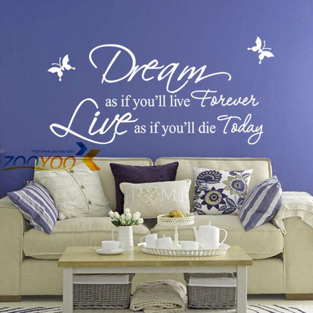 Мечта как если вы украшения дома творческий на стены ZooYoo8133 спальня съемный виниловые наклейки гостиная росписи