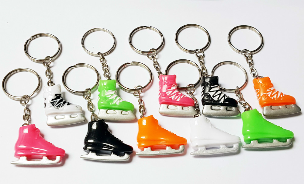 100X Key Chain Ring w/ Skate Shoe Roller Vintage Charm Fashion Favour Pinata School Bag Party Favors Gift Novelty Birthday Prize(Hong Kong)