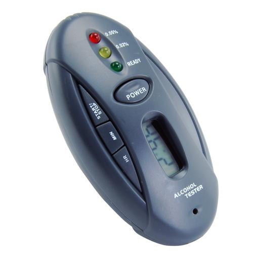 High quality high accuracy mini digital breath breathalyzer alcohol gas tester detector analyzer keychain with flashlight(China (Mainland))
