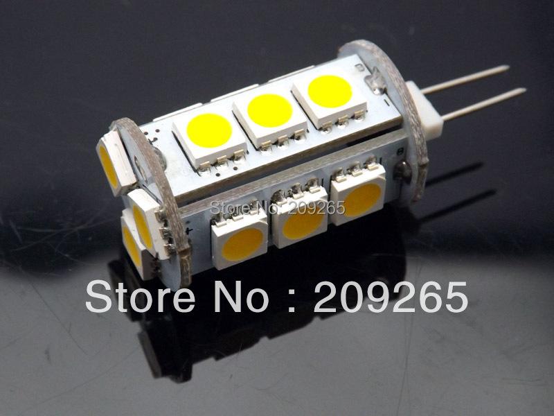 10PCS/lot 10V-30V DC/AC 12V/24V AC/DC G4 LED light SMD 5050 18leds G4 leds 3Watt Super bright Cold white/ Warm white #1166(China (Mainland))