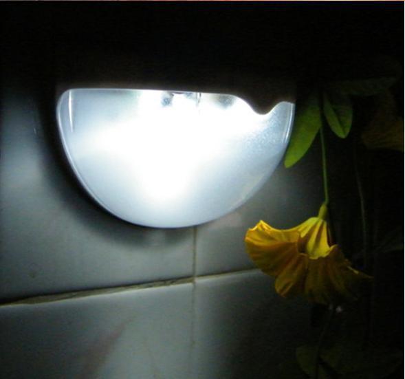 Solar Power Powered Hemispheric Lamp Saving Efficient Bright 6LED Practical Garden Wall Path Outdoor Hemispheric Light Lamp