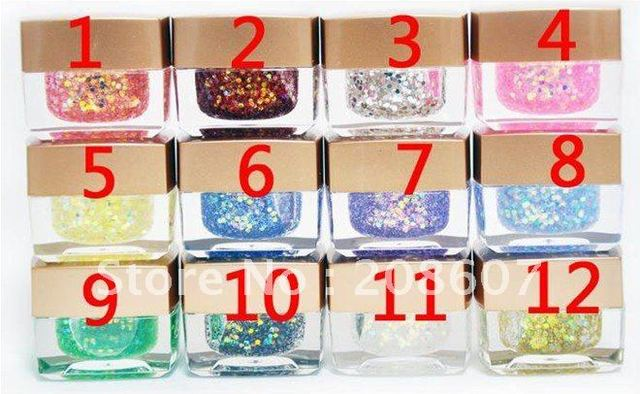 Free Shipping 12 Colors Nail Art  Polish Color Opaque Gel UV Gel 7ml/pot UV Builder Gel Wholesales