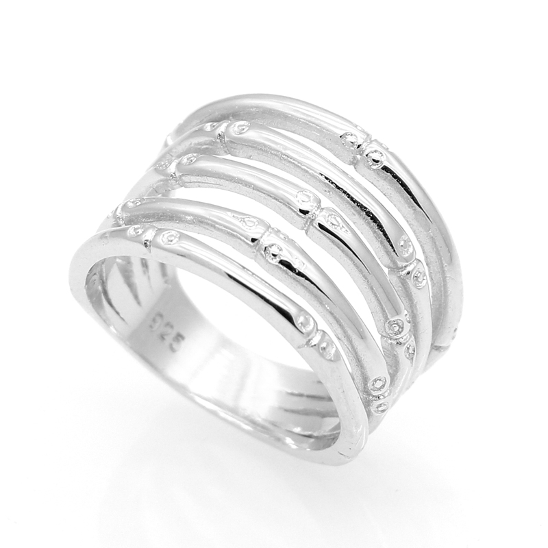 Fashion Female Fine Jewelry Wedding Ring For Women Anti-Tarnish Rhodium Plated On 925 Sterling Silver Jewelry New High Quality(China (Mainland))