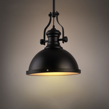 Buy Black Industrial Mining Model Vintage Pendant Lights Lamps Dining Room Matte Glass Ceiling Hanging Lighting for $51.75 in AliExpress store