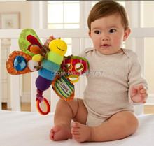 Lamazes' Toy , 014 new Baby Musical Inchworm Plush toy, Lamazes' butterfly Wrist Rattle, toddler Infant kids toys(China (Mainland))