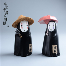 Anime Cartoon Miyazaki Hayao Spirited Away No Face Money Box PVC Action Figure toy Kids Doll Gift