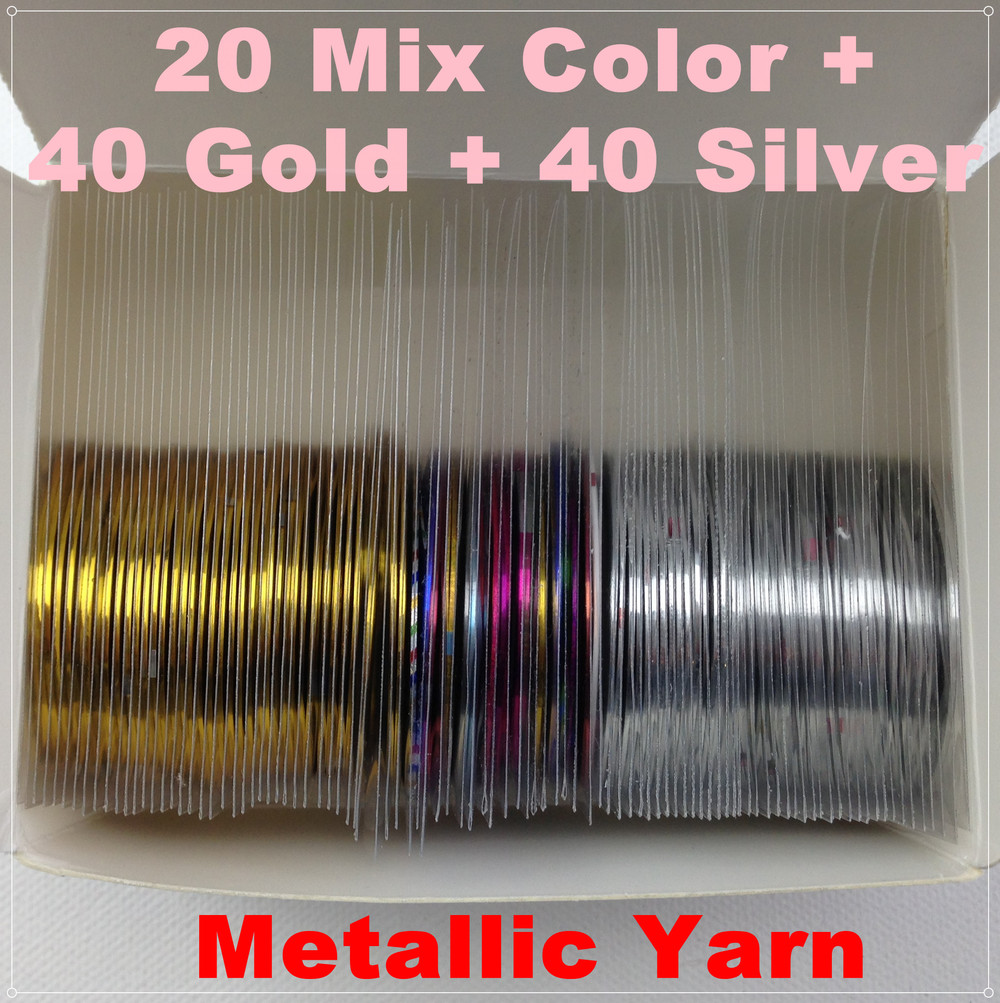 Nail Striping Tape Walmart: -Retail-20-Mix-Color-40-Gold-40-Silver-Rolls-Striping-Tape