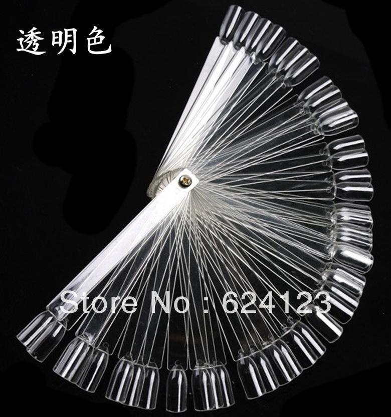 48 tips Fan-Shaped Nail Art Display Chart for Polish Color UV Gel Tool 30wheels/lot(China (Mainland))