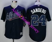 Men #24 Deion Sanders Jersey Embroidery Logos Atlanta Braves Baseball Vintage Cheap China Best Authentic Aimee Smith Store(China (Mainland))