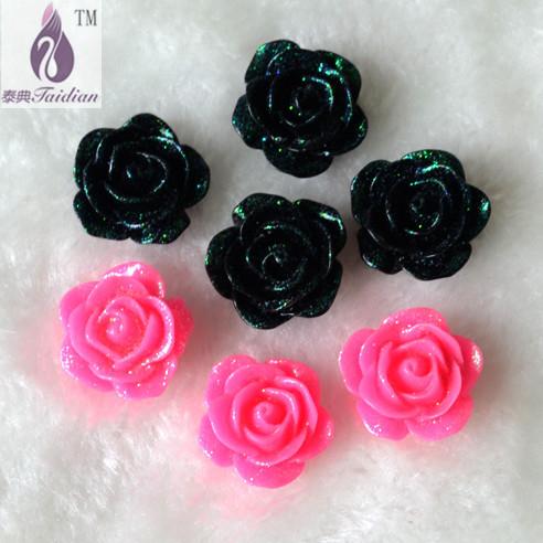 resina flores Flatback cabujon Scrapbooking , Fashion Resin Flower Choker Statement 17mm 100pcs Resin Flower ,Flatback Cabochon(China (Mainland))