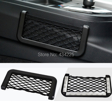 Universal Car organizer Seat Back Storage Net Bag Phone holder Pocket Black SUN 15*8CM(China (Mainland))