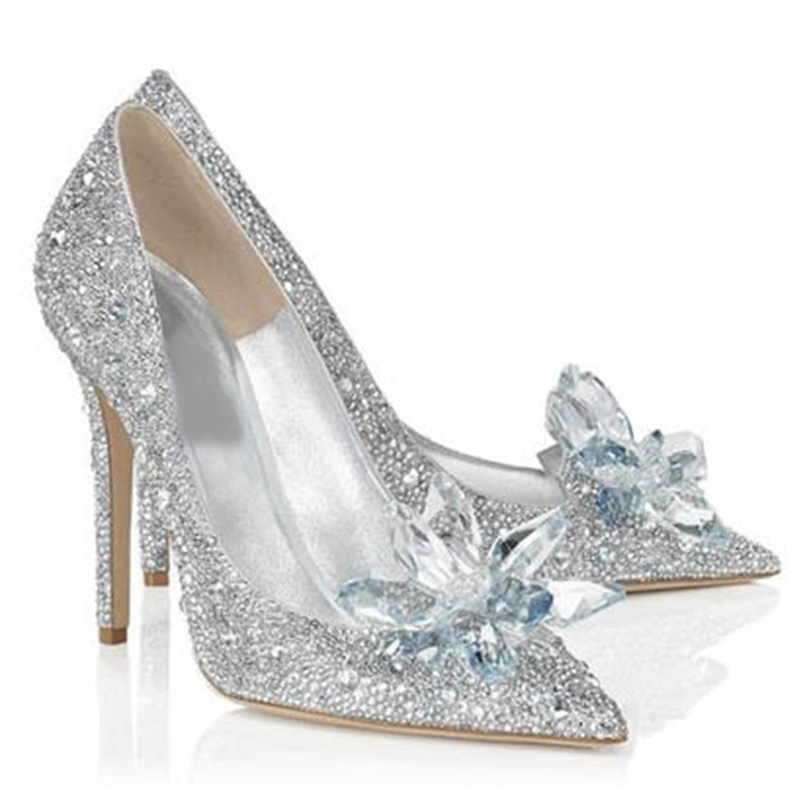 Silver High Heels with Rhinestones Promotion-Shop for Promotional ...