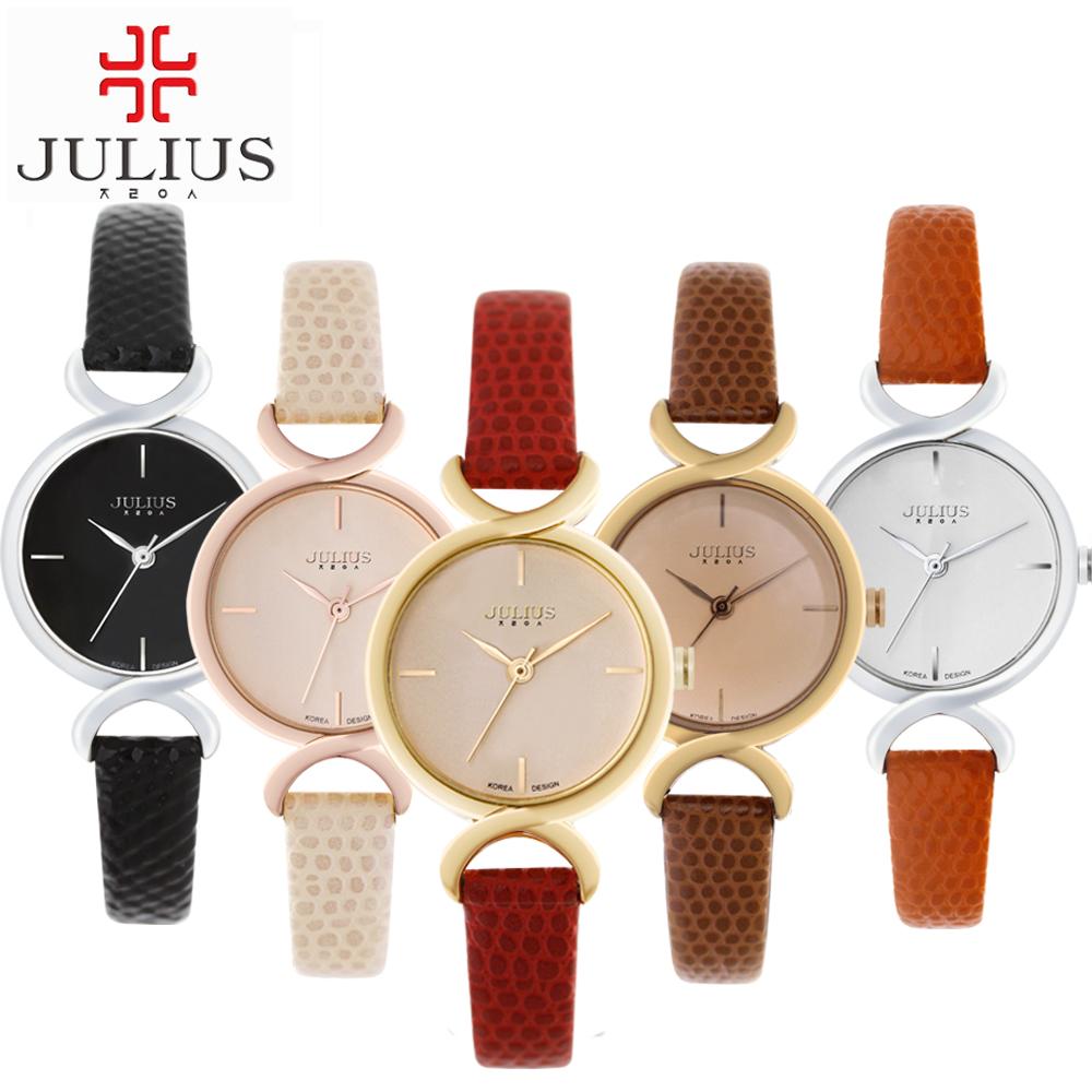 JULIUS Hot Genuine leather women wristwatch women dress watches Female fashion casual quartz watch best brand JA-694(China (Mainland))