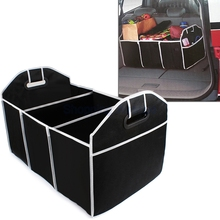 New Car Trunk Organizer Toys Food Storage Container Bags Box Car Styling Car Stowing Tidying Auto Interior Accessories Black(China (Mainland))