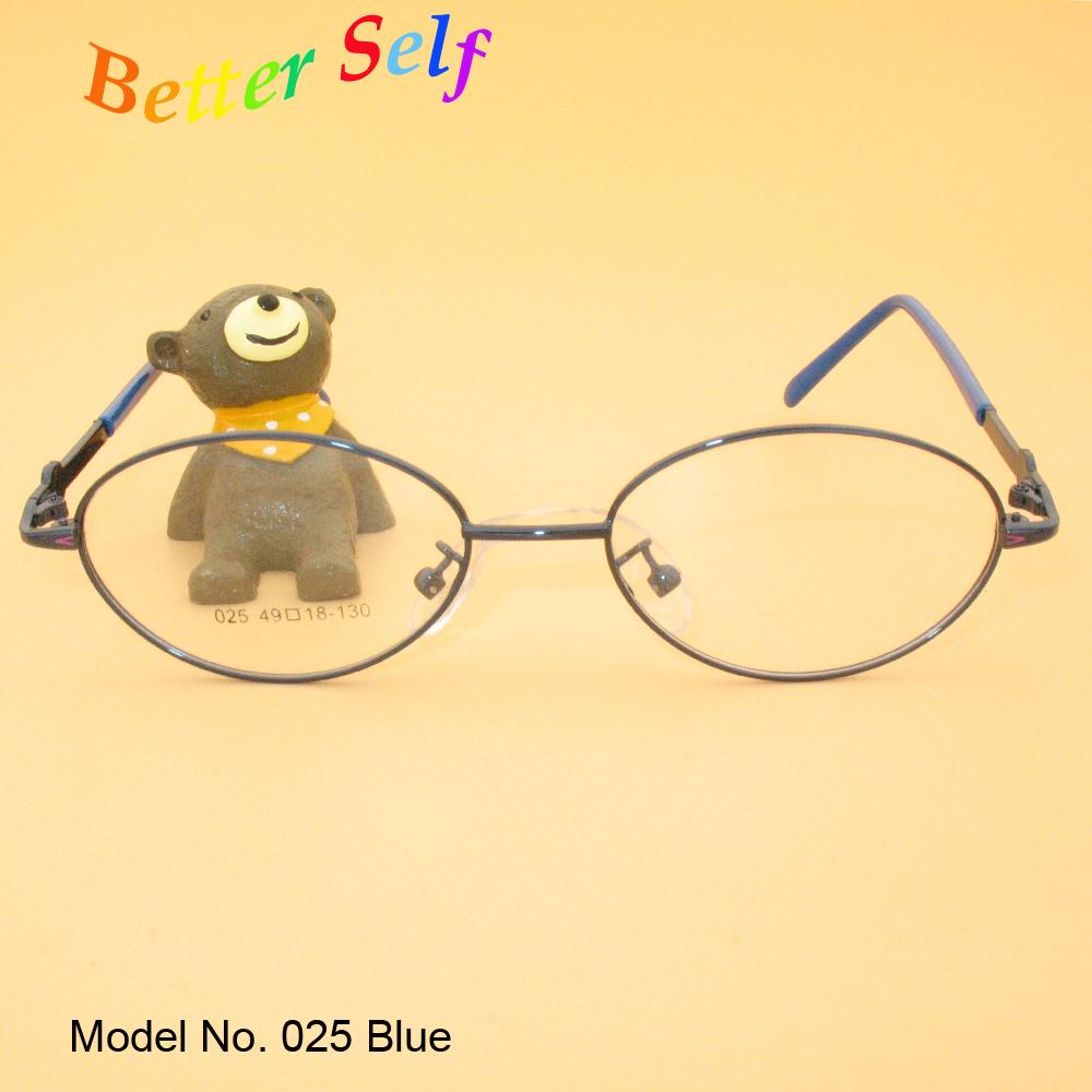 F025 Full rim Spectacles Kid Eyewear Oval Eyeglasses Metal Optic Girl Eye Glasses Boy Girl Optic Eyeglass Frame(China (Mainland))