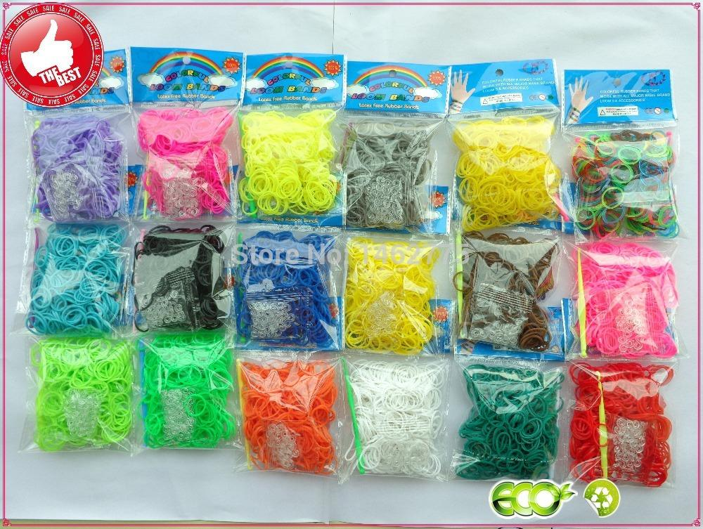 300 pcs High-Quality Bands Colorful loom Rubber bands DIY making kit for make rubber band bracelet(China (Mainland))