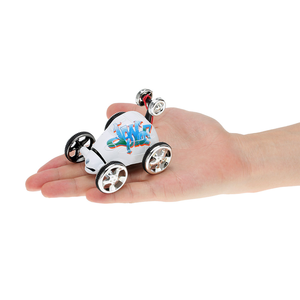 100% Original Create Toys 2152B 40MHz 2CH Mini RC Car Rolling Rotating Wheel Stunt Car Kids' toys(China (Mainland))