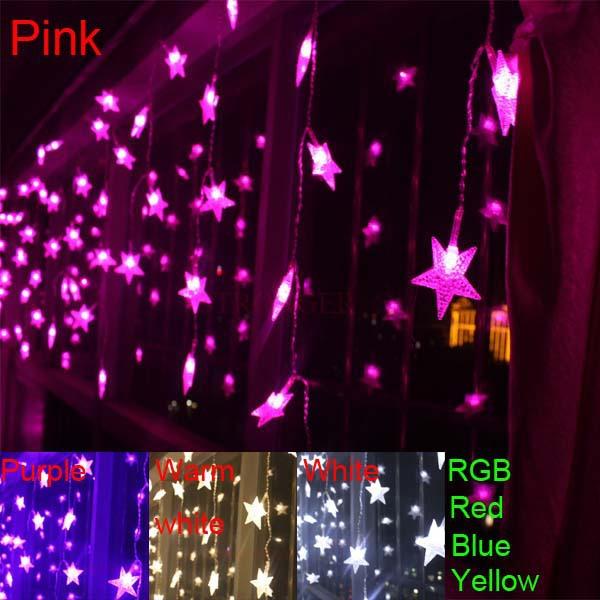 3.5m 100 SMD 100 Stars Multicolor LED String Strip Festival Holiday Light Christmas Wedding Decoracao Curtain lamp EU/US/UK/AU(China (Mainland))