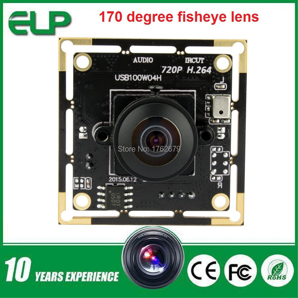 H.264 170 degree fisheye lens 1/4 cmos Ominivision OV9712 1.0megapixel 720p wide angle conference usb camera module <br><br>Aliexpress