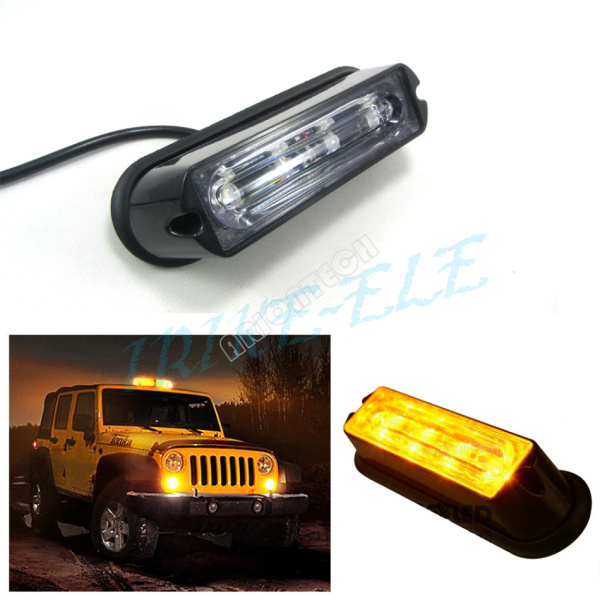 12v 24v super bright 4 led waterproof car truck emergency. Black Bedroom Furniture Sets. Home Design Ideas
