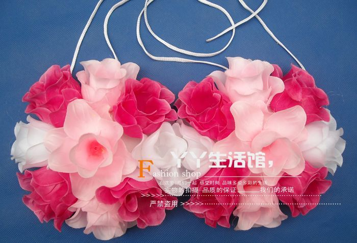 The new 2016 hula dance clothing corsage bra (children) in adult men and women can use More money(China (Mainland))