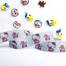 "Wholesale  20 Yards 1""25mm hello kitty &dog white printed polyester grosgrain DIY Hairbow Ribbons Riband Free Shipping(China (Mainland))"